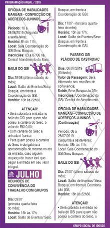 PROGRAMAÇÃO GSI 2019 – Folha 06
