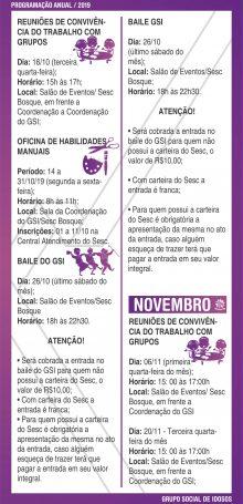 PROGRAMAÇÃO GSI 2019 – Folha 09